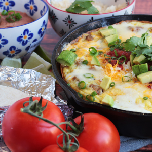 3 Cheese Mexican Frittata with Salsa Fresca