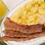 eggs and bacon breakfast