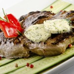 Steak with Blue Cheese Butter Topping