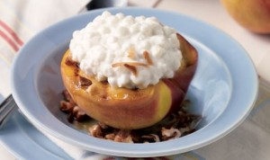 Grilled Peaches with Cottage Cheese