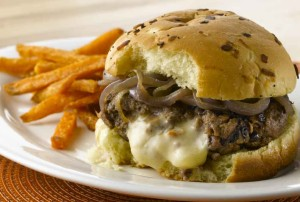 Crystal Farms Sizzling Juicy Lucy Burger