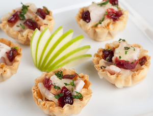 Turkey, Gruyere and Cranberry Mini Phyllo Shells
