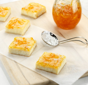 Orange Ricotta Cream Cheese Bars