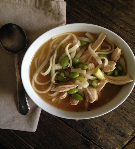 Asian Chicken Udon Soup