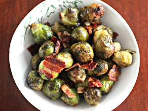Brussels Sprouts With Bacon & Onions