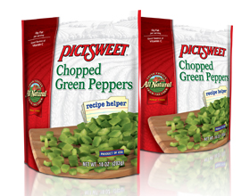 Chopped Green Peppers
