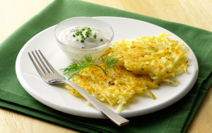 potato pancakes with dill