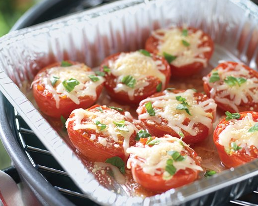 Chese-Topped Grilled Tomatoes