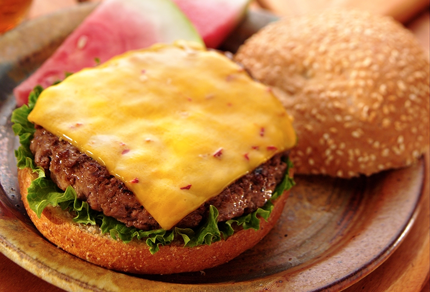 Barbecued Chipotle Cheddar Burgers
