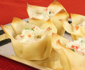 Baked Crab and Cheese Wonton Cups