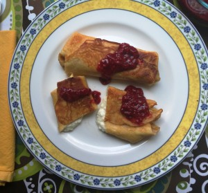 Fruit and Cheese Blintzes
