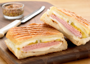 Cuban-Inspired Pressed Cheese Sandwich