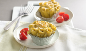 Broccoli and Cheese Pasta Cupcakes