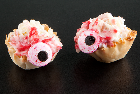 Bloody Eyeball Phyllo Treats