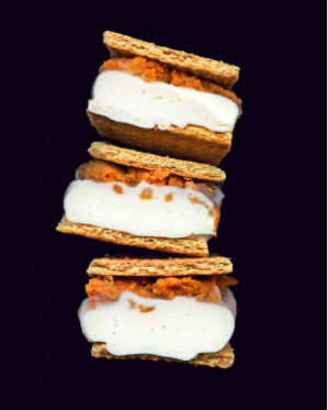 Pumpkin Pie Ice Cream Sandwiches