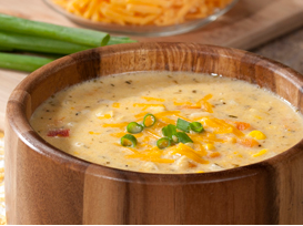 Sweet Corn and Cheddar Chowder