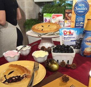 Katie Workman's Blueberry Pie with Greek Vanilla Yogurt Toppings Bar