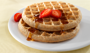 Whole Grain Waffles with Strawberries
