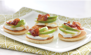 Goat Cheese, Apple and Bacon Canapés