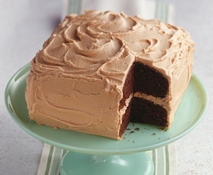 Chocolate Cakewith Peanut Butter Frosting