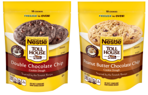 Nestle Tollhouse Peanut Butter Chocolate Chip and Double Chocolate Chip Cookie Dough