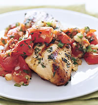 Grilled Chicken With Roasted Tomato Salsa