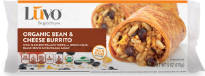 Luvo Organic Bean & Cheese Burrito_packaging