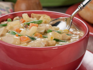 Cheesy Mac and Chicken Soup