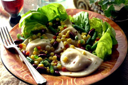 Italian Green Bean and Pierogy Salad