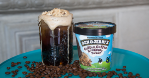 Bena & Jerry's Cold Brew Coffee Soda Float