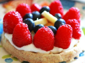 Fruit and Waffle Breakfast Pizzas