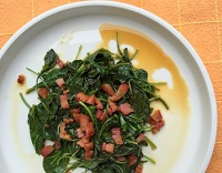Kale with Orange and Pancetta