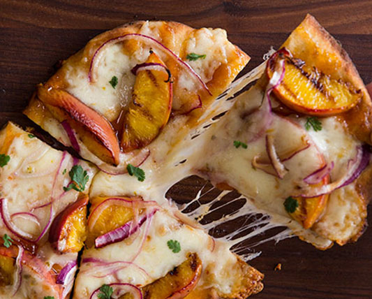 Kraft Grilled Peach and Pepper Jack Pizza