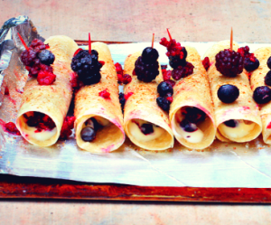 Mixed Berry Dark Chocolate Frozen Yogurt Rollups