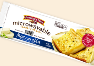 Frozen Microwaveable Garlic Mozzarella Bread