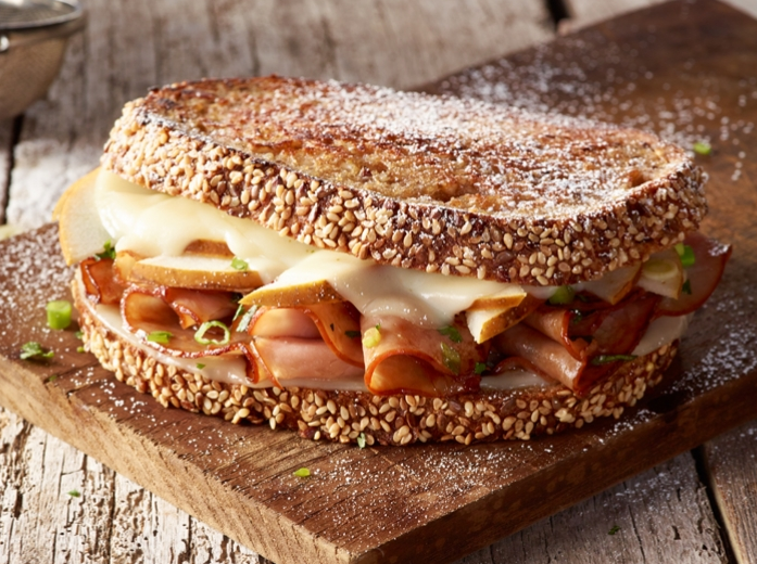 Asian Pear Grilled Ham & Cheese
