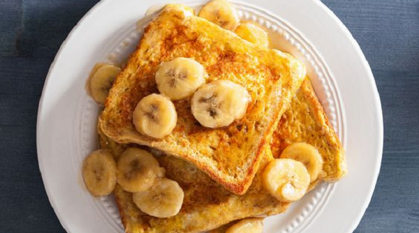 Overnight Banana Streusel French Toast