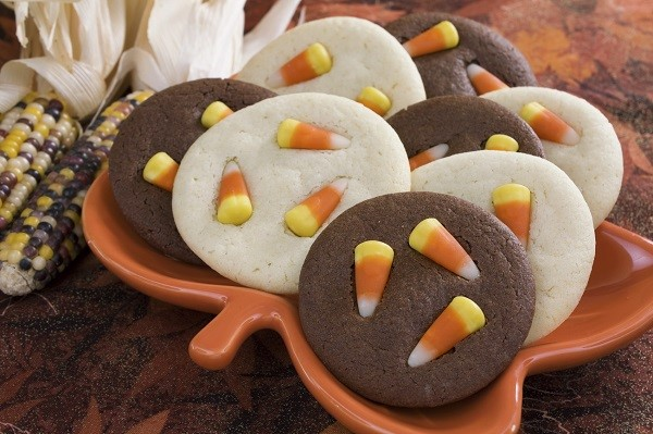 Candy Corn in Cookies