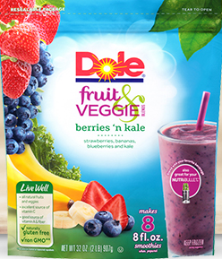 Dole Berries and Kale Veggie Blend