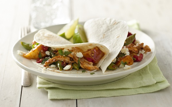 Chipotle Chicken and Vegetable Tacos