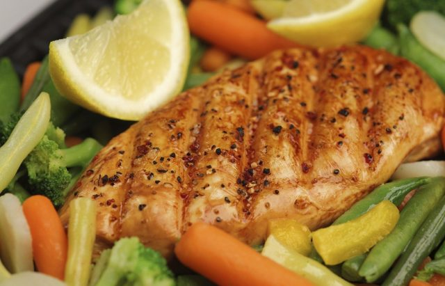 Grilled Herb Chicken Breasts with Veggies