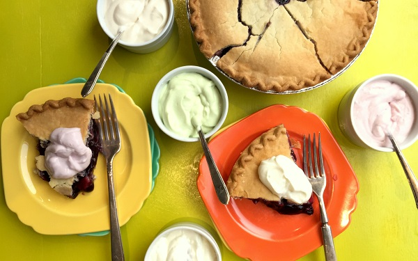 Katie Workman's Blueberry Pie with Yogurt Toppings Bar
