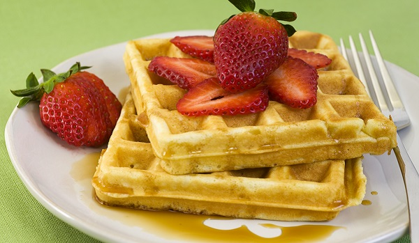 Strawberries and Waffles