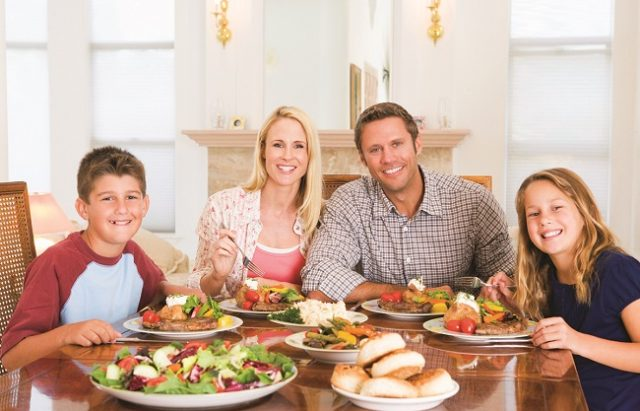 Family Enjoying Mealtime Together