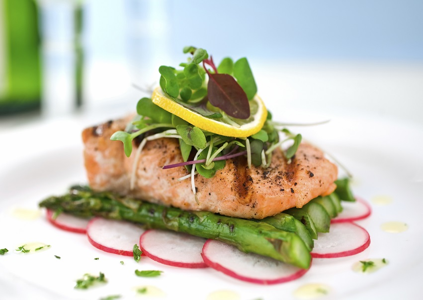 Salmon on Asparagus