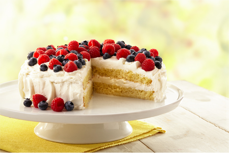 Tres Leches Cakes with Berries