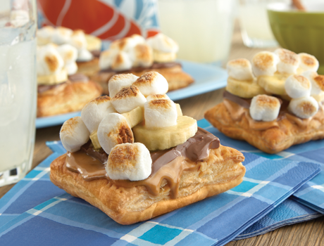 Chocolate Peanut Butter S'mores Puff