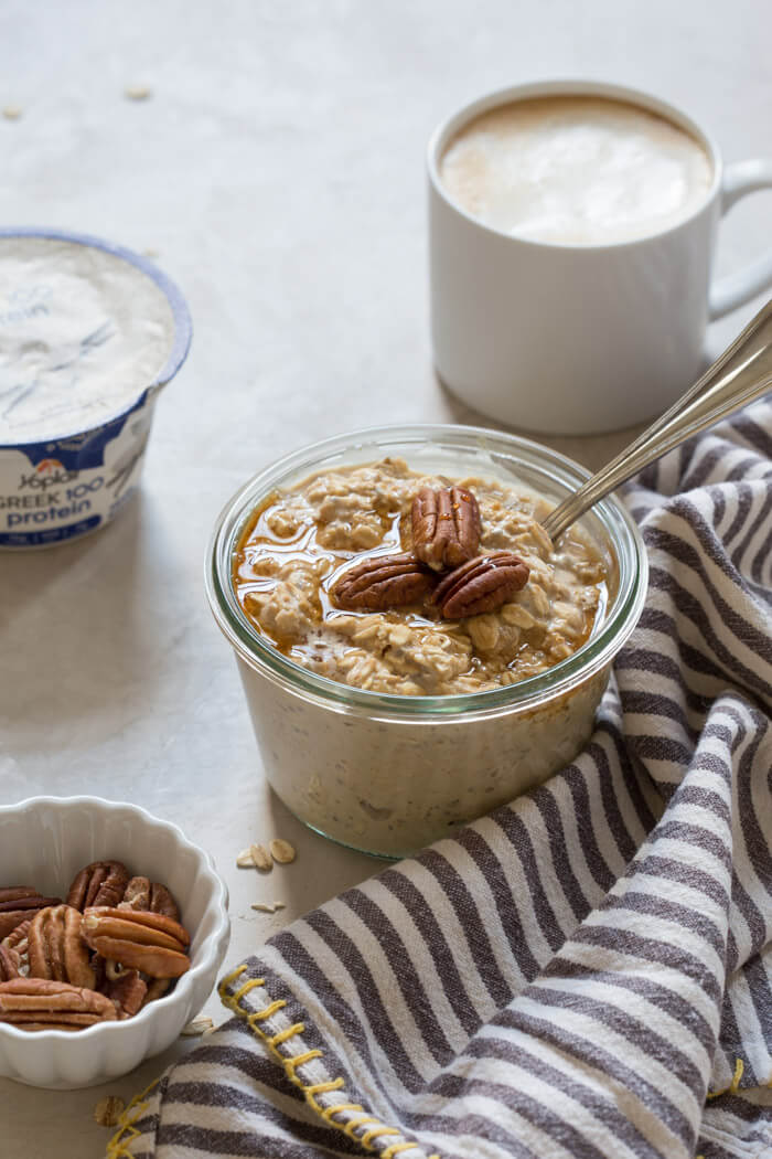 Maple Pecan Latte Overnight Oats