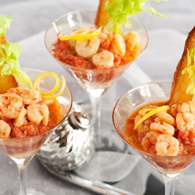 Merry Shrimp Martinis