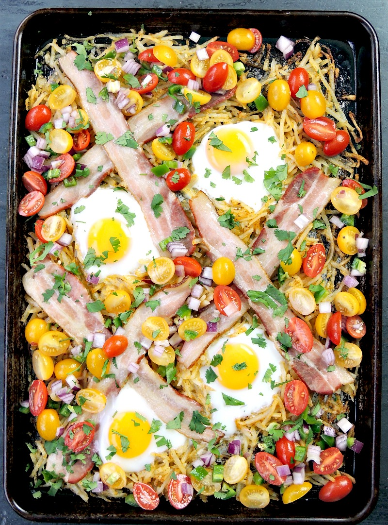Southwestern Style Sheet Pan Breakfast